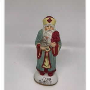 4/$10 Vintage International Santa Figurine Greece